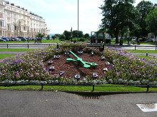 Hove, Floral Clock Palmeira Square, Sussex,Copyright Simon Carey